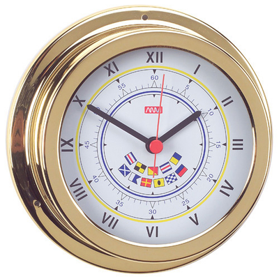 RWB Clock Brass Code Flags 120mm