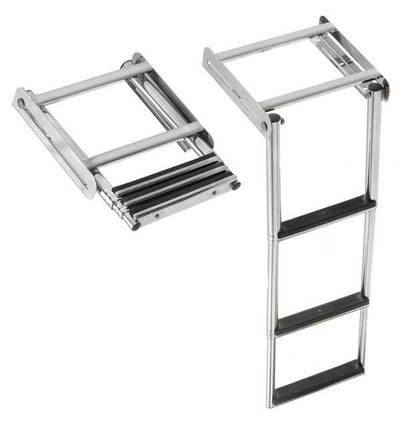 RWB Ladder Stainless Steel Retractable Under Platform 2 Step/3 Step