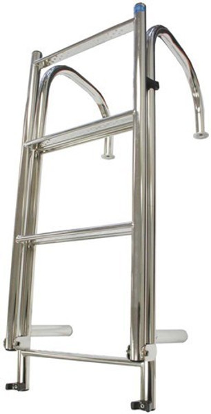 RWB Stainless Steel Large Deck Mount Ladders 6 Rung/7 Rung