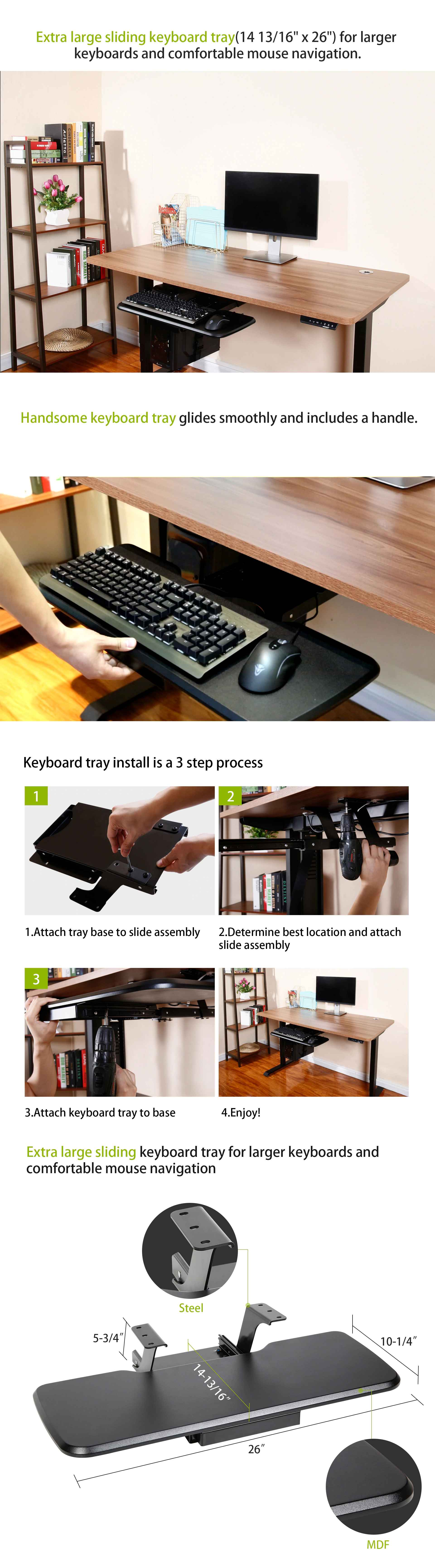 Eureka Ergonomic Keyboard Tray