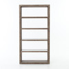 Finley Bookcase-Washed Grey/Ant Mirror