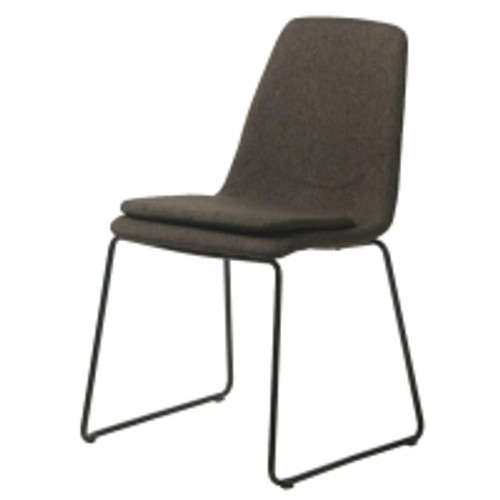 Marcell KD Fabric Chair Black Legs, Coffee Truffle