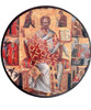 "Pick-Your-Saint Mounted Icon- 8"" Round"