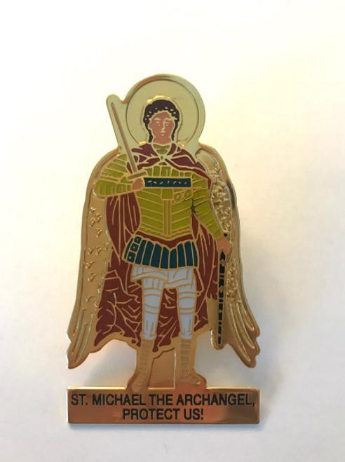 St. Archangel Michael Visor Clip
