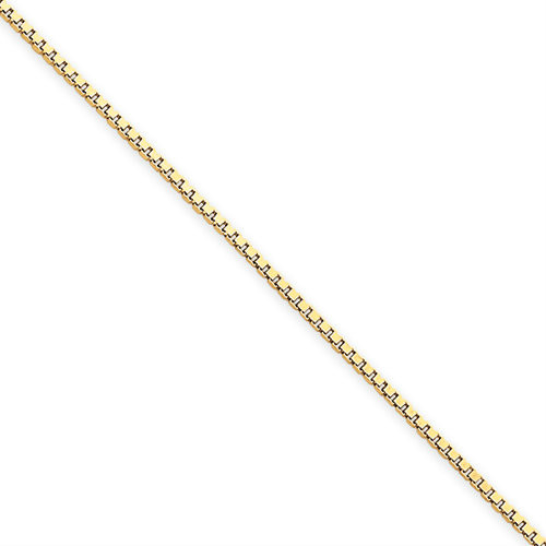 14KT 1.1mm Box Chain- Various Lengths