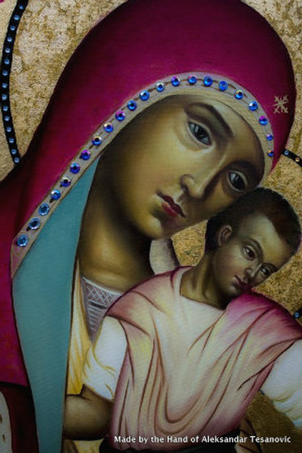 *Handpainted Icon: Theotokos and Child
