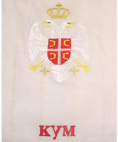 "Embroidered Long Wedding Peskir: ""Kum"""