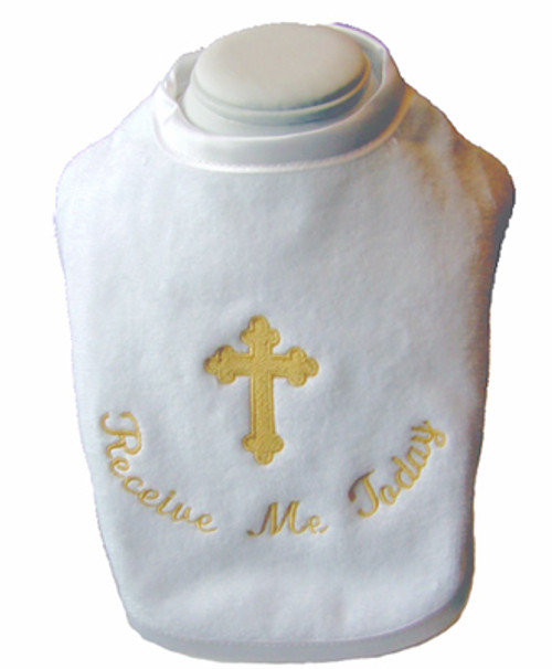 Embroidered Plush Holy Communion Bib