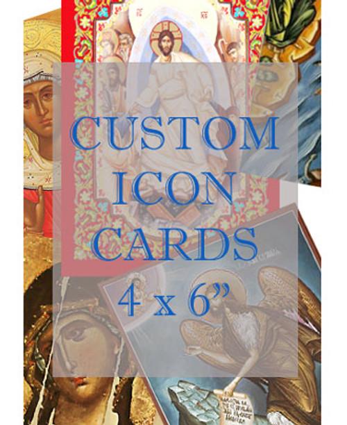 """Custom Icon Cards: 4 x 6"""", Glossy UV Coated"""
