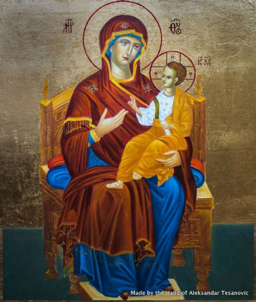 *Handpainted Icon: Theotokos Enthroned