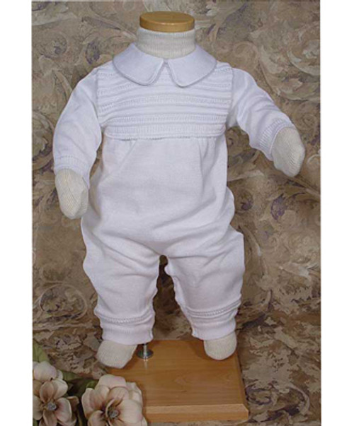 Boys Knit Coverall Baptismal Outfit