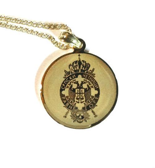 Chetnik Grb Medallion with Chain