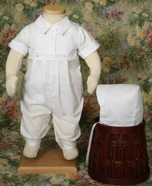 Boys Cotton-Poly Simply Elegant Romper- 6 Month Size- ON SALE!
