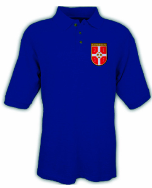 Serbian Soccer Polo Shirt:  Men's L