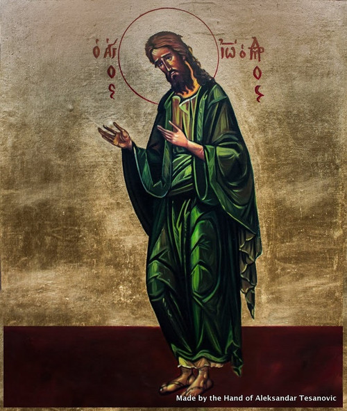*Handpainted Icon: St. John the Baptist (Full Figure)