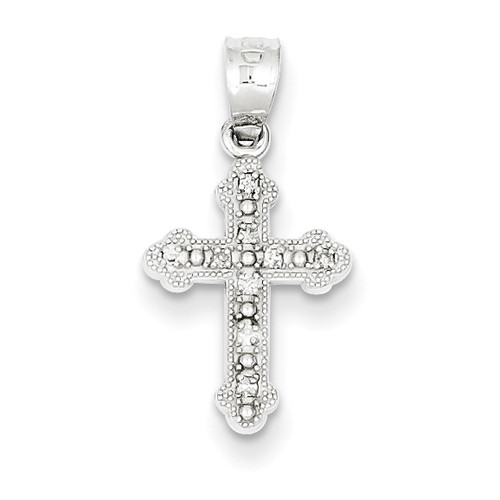 14kwg genuine diamond byzantine cross pendant 12 orthodoxgifts 14kwg genuine diamond byzantine cross pendant 12 mozeypictures Image collections