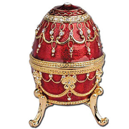 Imperial Egg Trinket Music Box- Red