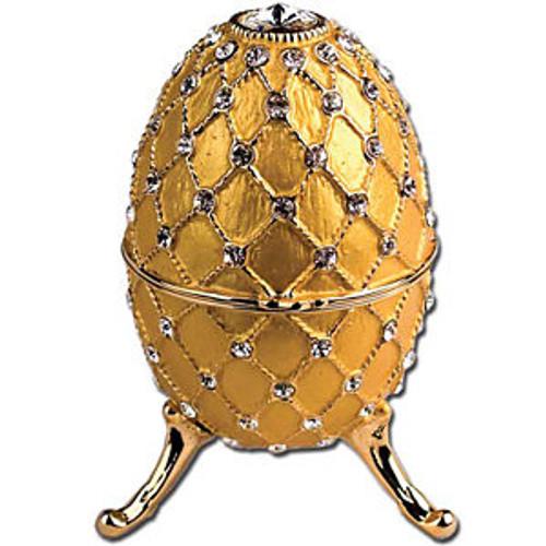 Imperial Egg Trinket Music Box- Gold