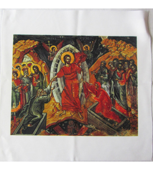 Resurrection of Christ Icon Pascha Basket Cover