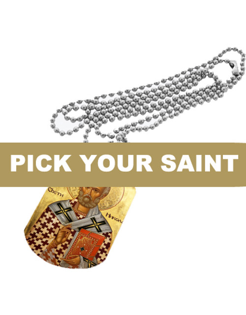 Pick-Your-Saint Icon Dog Tag
