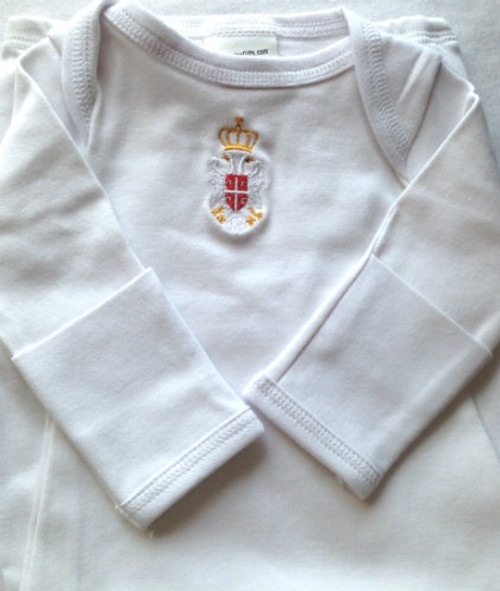 Serbian Grb Embroidered Newborn Gown- MORE COLORS!