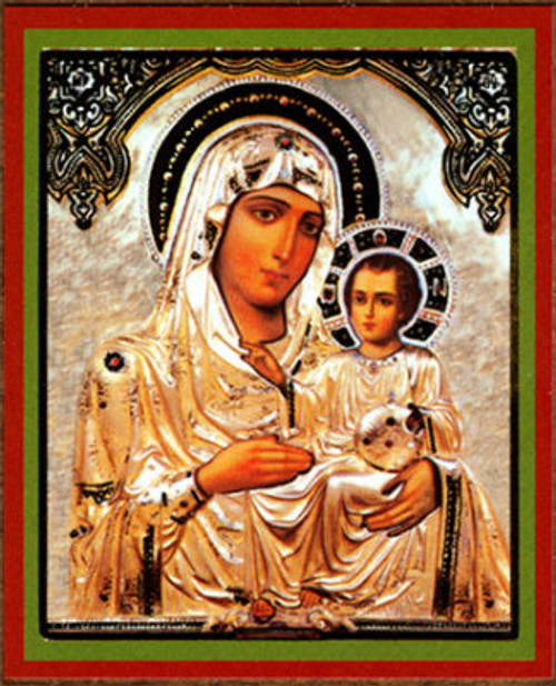 "Virgin of Jerusalem Gold Foil Icon 2 1/2"" x 3""- Set of 25"