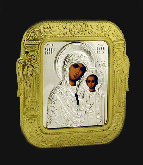 "Virgin of Kazan Car Icon 2 1/2"" x 2 1/2""- Set of 25"