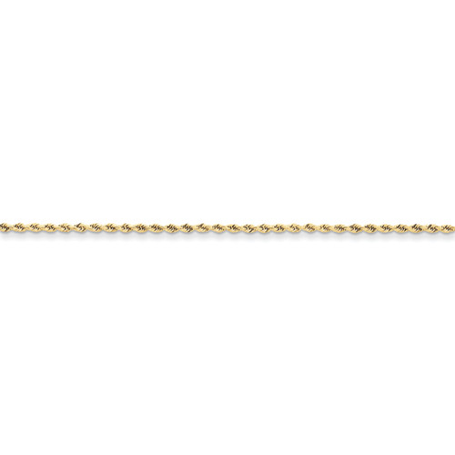 10KT 1.75MM Diamond-Cut Rope Chain- Various Lengths