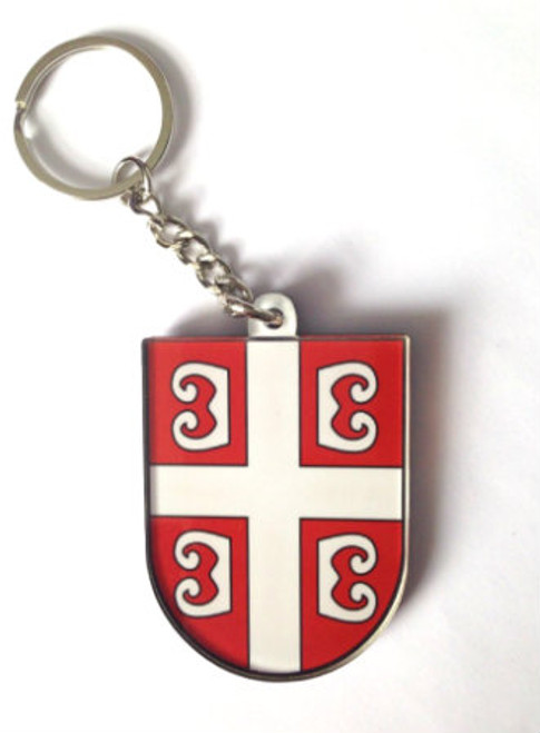 Serbian Soccer Logo Acrylic Keychain