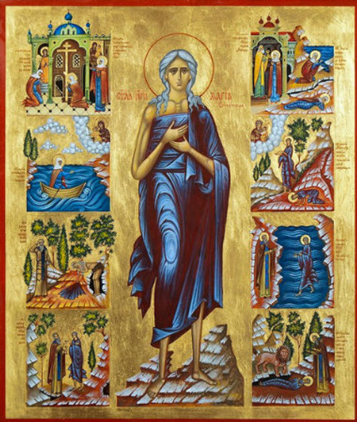 St Mary Of Egypt Icon With Scenes Icon Ii