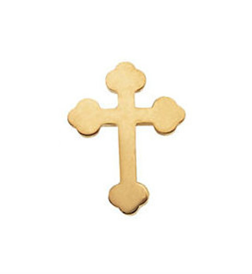 14KT Orthodox Cross Lapel Pin