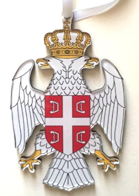 Serbian Double Eagle Grb Acrylic Die-Cut Ornament