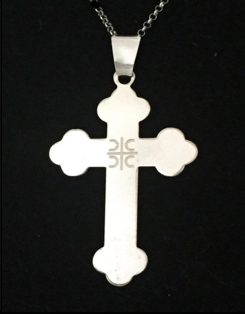 4Cs Engraved Sterling Silver Cross- 1 3/4""