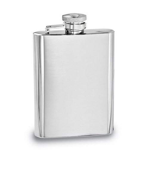 Engravable Polished Stainless Steel 4oz Hip Flask