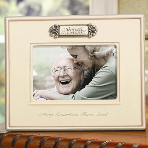 """In Loving Memory Ceramic Memorial Photo Frame:  4 x 6"""""""