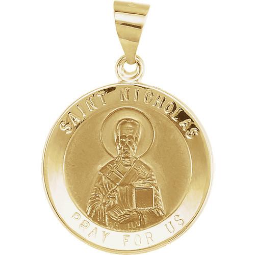 14KYG St. Nicholas Round Medallion