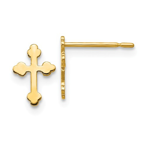 Children's Byzantine Cross Mini Post Earrings