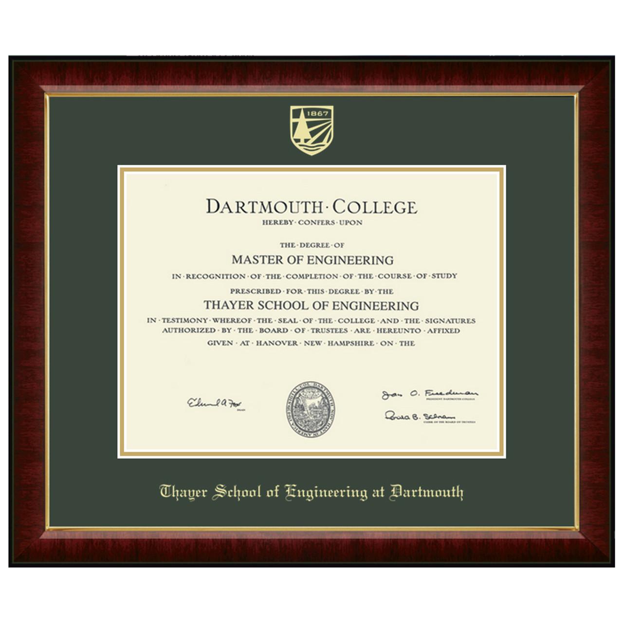Spirit Shop - Graduation Shop - Diploma Frames and Gifts - Dartmouth ...