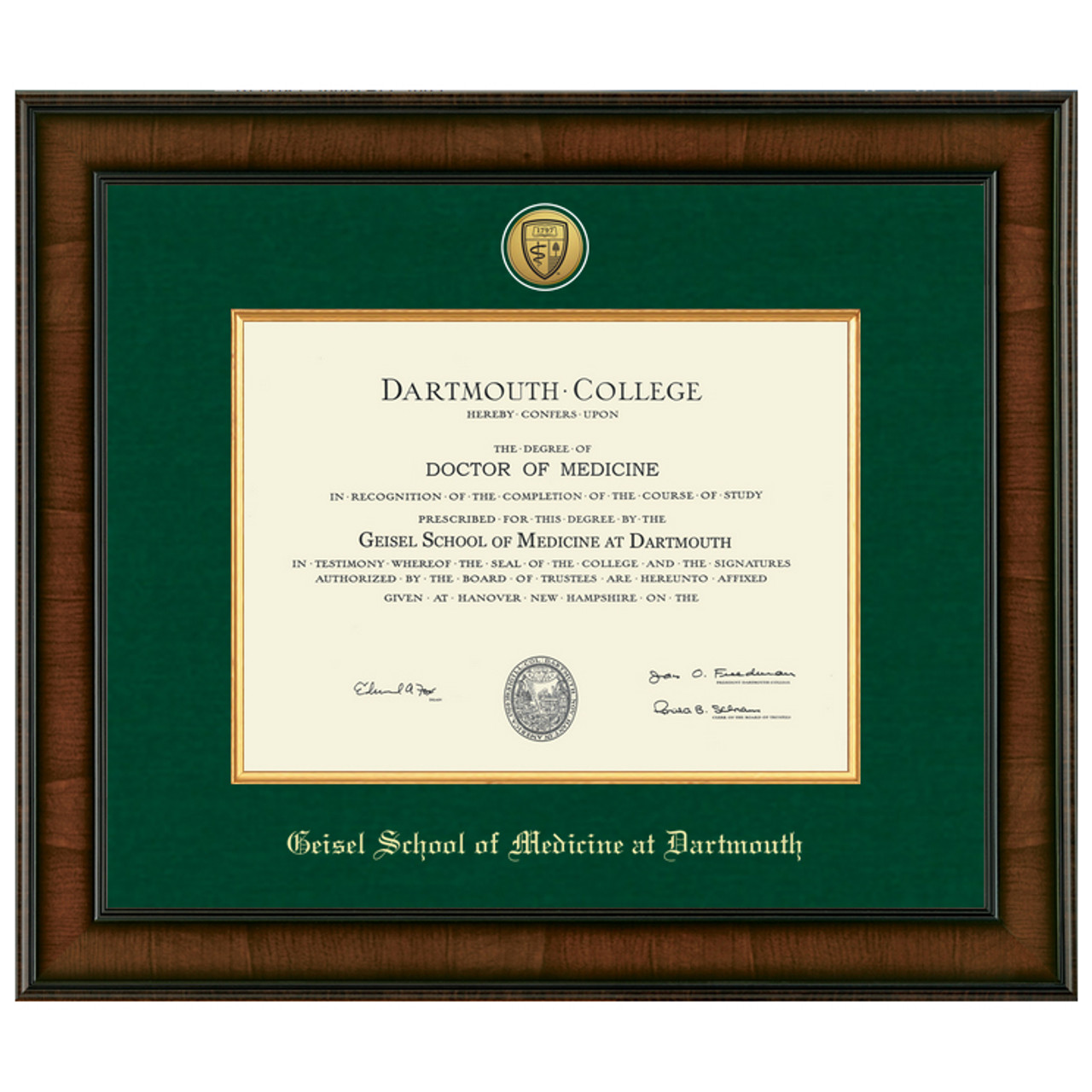 Murano Diploma Frame - Geisel School of Medicine at Dartmouth