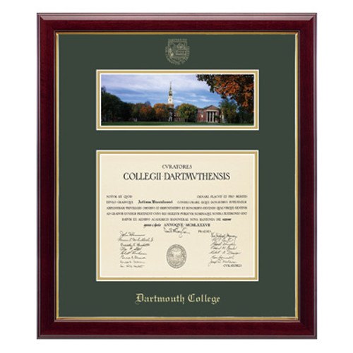 Museum-quality matted diploma frame, Dartmouth diploma frame