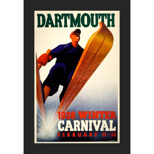 Framed 1938 Winter Carnival Poster