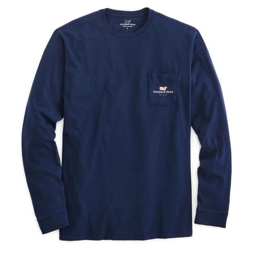 Long-Sleeve Vineyard Vines Dartmouth Pocket T-Shirt