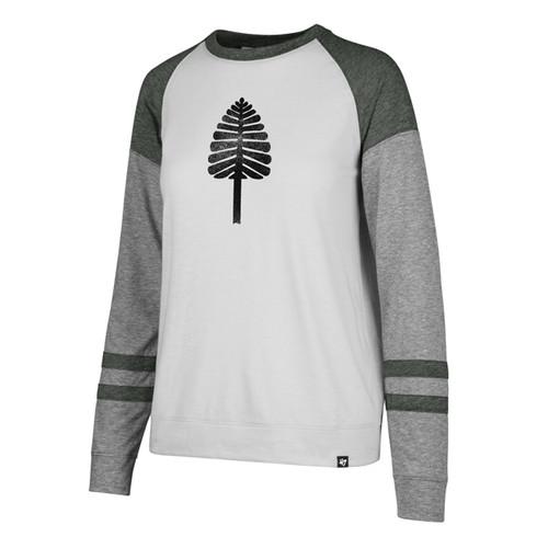 Women's Tri Blend  Stripe Lone Pine Long Sleeve