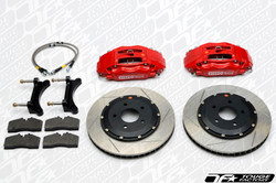 StopTech 08-09 Subaru WRX STi Front BBK ST60 355x32 Slotted Red