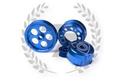 TF Lightweight Aluminum Pulley Kit Mazda RX7 FD3S 13B - BLUE