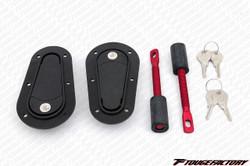 AeroCatch Hood Latch Pin Flush Locking Kit - Black