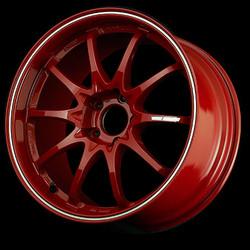 Volk Racing Burning Red/Rim Flange Diamond Cut CE28RT