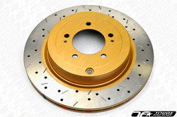DBA 4000 XS Cross Drilled Slotted Brake Rotors - FR-S & BRZ - Front