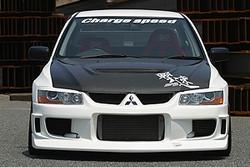 Charge Speed OEM Style Hood: Carbon - Mitsubishi EVO 8