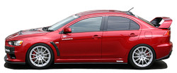 Charge Speed Bottom Line Type-1 Side Skirts: Carbon - Mitsubishi EVO 10